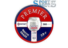 Пули Crosman Premier Match Grade 4,50мм, 0.51г, 500шт