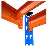 Стеллаж полочный 2160х1200х700мм, 400кг,5 полок с ДСП крашеный, стеллаж для магазина, офиса, склада, фото 3