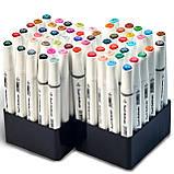 Набор маркеров Touch Multicolor для рисования и скетчинга на спиртовой основе 60 шт, Фломастеры для художников, фото 6