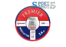 Пули Crosman Premier Wadcutter 4,50мм, 0.48г, 250шт