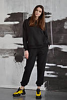 Жіночий трикотажний костюм чорний