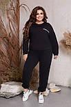 Вільний костюм жіночий спортивний великого розміру, фото 5