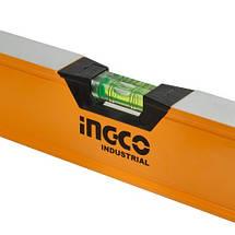 Уровень 200 см 3 капсулы алюминиевая рамка 1.5 мм INGCO INDUSTRIAL, фото 3