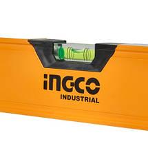 Уровень 200 см 3 капсулы алюминиевая рамка 1.5 мм INGCO INDUSTRIAL, фото 2