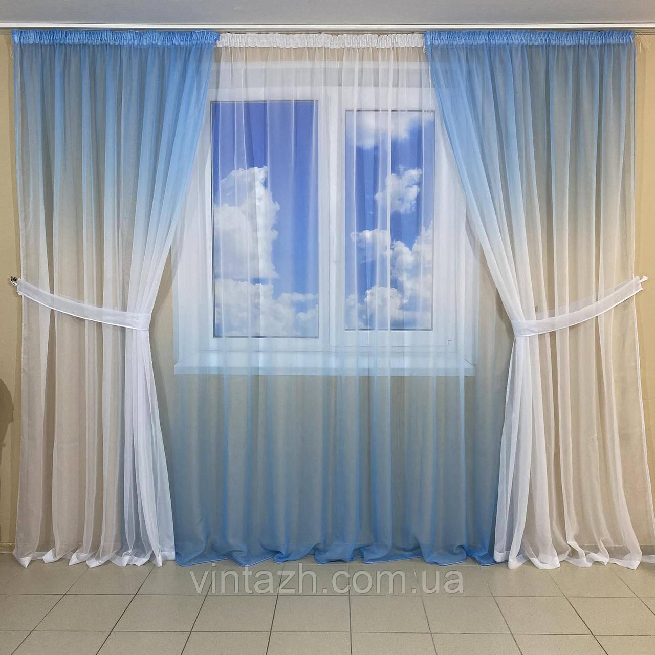 Готовый комплект штор в спальню