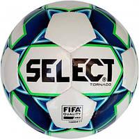 Мяч футзальный SELECT Futsal Tornado (FIFA Quality PRO) + насос в подарок Белый