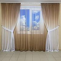 Модные шторы из лёгкой ткани