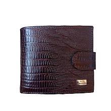 Мужской кошелек кожаный коричневый 091ВА
