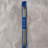 Спицы носочные № 4 стальные чулочные Knitting Needles 25 см
