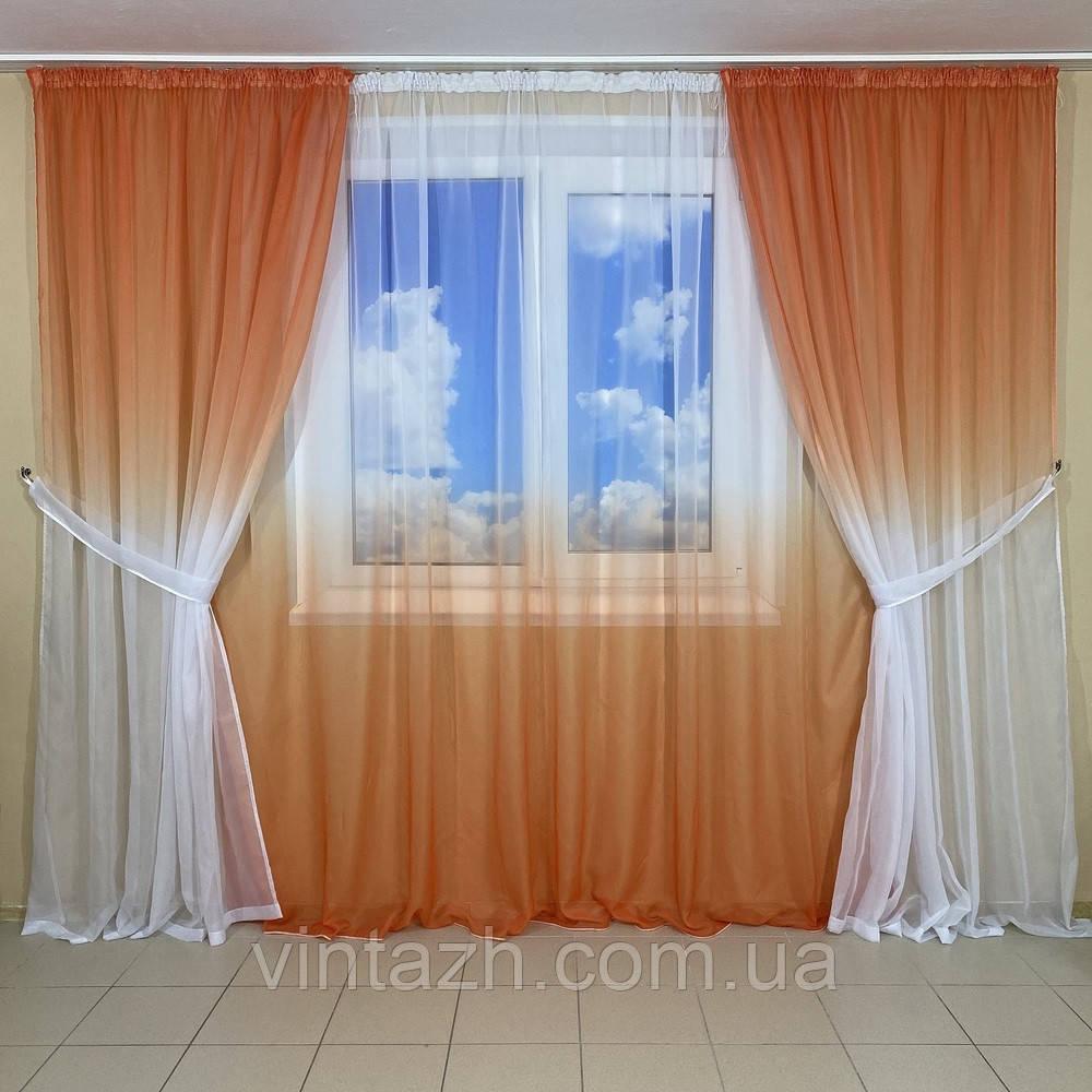 Красивые легкие шторы в детскую