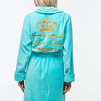 Банный махровый халат с индивидуальной вышивкой