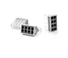 Экспресс-клемма для распределительных коробок WAGO 773-328 на 8 проводников, 220В, 25А, 1-2.5 мм² (1уп.-100шт)