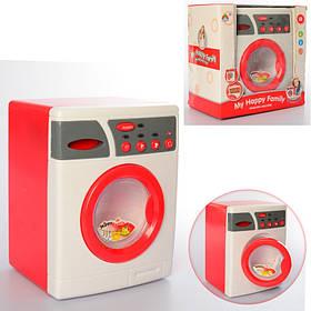 Игрушка Стиральная машина размер 24,5 см. Звук, свет, вращ. барабан. В коробке