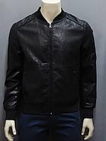 Мужская куртка - бомбер из эко-кожи