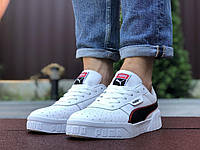 Мужские кроссовки Puma Cali Bold. Стильные кроссовки Пума Кали Болд в белом цвете с черными элементами мужские