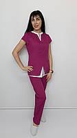 Медицинский женский костюм Весна хлопок короткий рукав