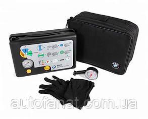 Аварийный комплект для ремонта шин BMW (компрессор, герметик, перчатки) (71102333674)
