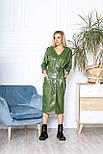 Женское платье стильное из эко-кожи, фото 6