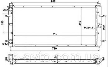 Радиатор охлаждения VW T4 2.5TDI 509514, фото 3