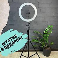 Лампа блогера Кольцевая лампа 26см Led лампа тик ток ютуб селфи кольцо кольцевой свет