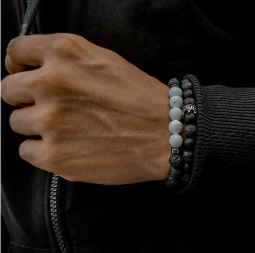 Комплект каменных браслетов mod.MoonStone
