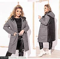Пальто демисезонное женское большого размера Украина Размеры: 50-52, 54-56, 58-60
