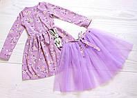 Детское платье двойка для девочек 4-5 лет весеннее красивое