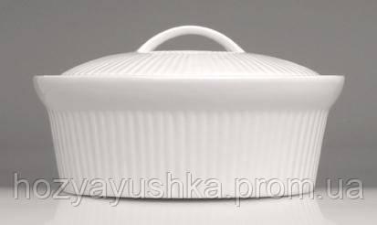 Овальная фарфоровая форма для выпечки с крышкой BergHOFF - Bianco