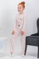 Пижама для девочки  д/с (футболка длинный рукав+штаны), х/б, ARNETTA  (размер 2)