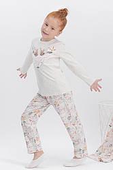 Пижама для девочки  д/с (футболка длинный рукав+штаны), х/б, ARNETTA  (размер 10)