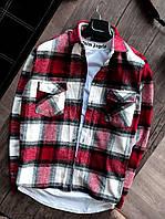 Мужская рубашка байковая теплая в клетку. Стильная мужская теплая байковая рубашка клетчатая.