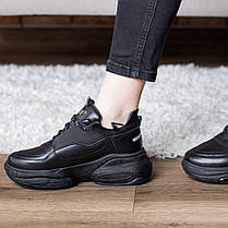 Кросівки жіночі Fashion Qana 2702 36 розмір 23 см Чорний, фото 3
