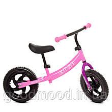 Біговел дитячий PROFI KIDS 12 д. М 5457-4 колеса EVA, пласт.обід, підшипники, CNC вісь, рожевий.