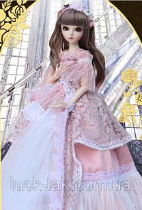 Шарнірна лялька bjd автора Меліса ріст 60 см, 1/3, коричневий колір волосся + одяг і взуття в подарунок