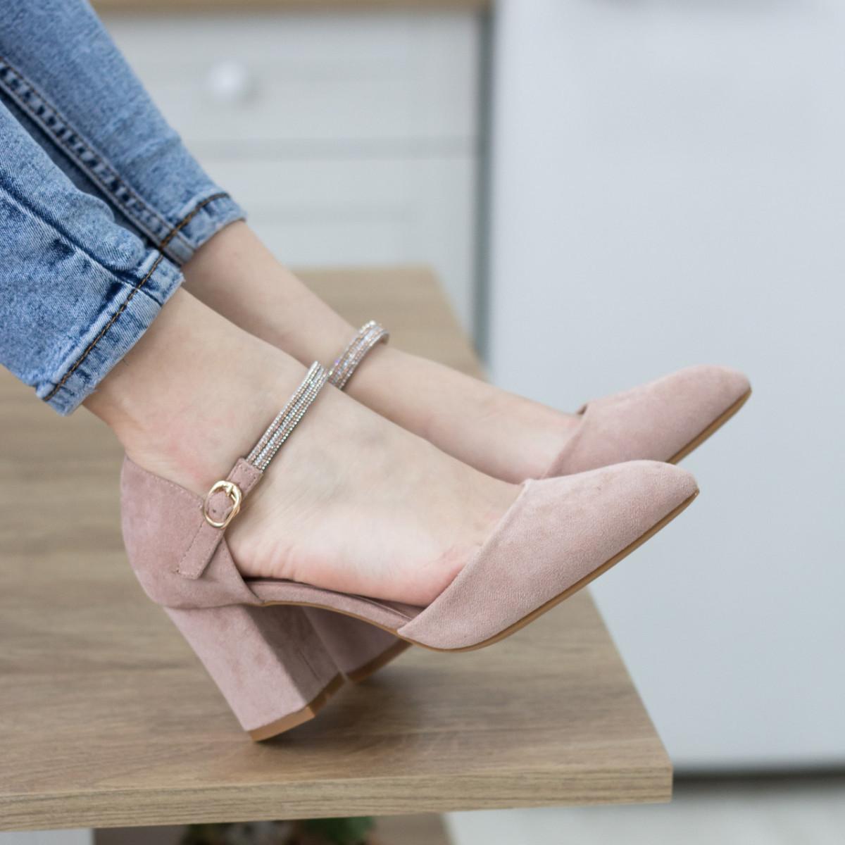 Туфли женские Fashion Ababa 2724 37 размер 24 см Бежевый