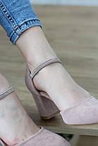 Туфли женские Fashion Ababa 2724 37 размер 24 см Бежевый, фото 3