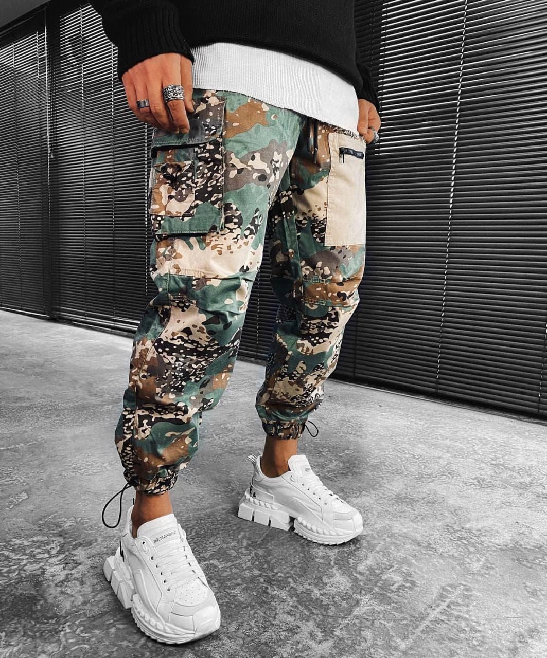 Мужские спортивные штаны милитари