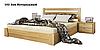 Ліжко дерев'яне з підйомним механізмом Селена МАСИВ / фабрика Естелла