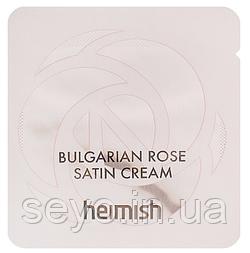 Крем для лица увлажняющий Heimish Bulgarian Rose Satin Cream, 1 мл
