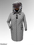 """Жіноча демісезонна куртка-плащ великих розмірів ArDi """"Лариса"""", фото 4"""