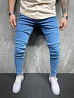 Мужские базовые джинсы зауженные синие