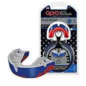 Капа OPRO Platinum Series Blue / Pearl / Red (art.002197001)