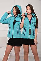 Жіноча весняна куртка-жилетка розміри 44-58, фото 1