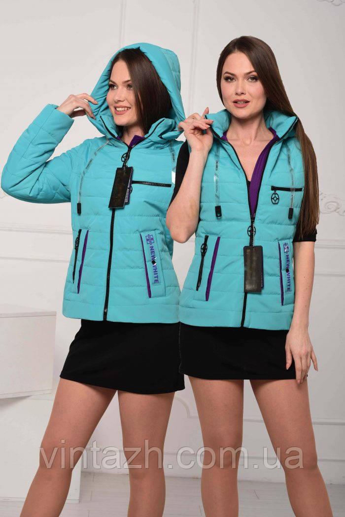 Жіноча весняна куртка-жилетка розміри 44-58