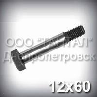Болт М12х60 прочность 10.9 DIN 609 (ГОСТ 7817-80) сталь 40Х