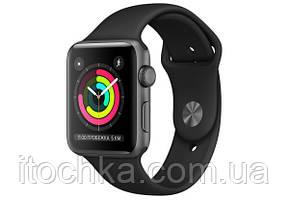 БУ Apple Watch Series 3 38mm Space Gray Aluminum Case with Black Sport Band (MTF02)