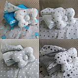 Комплект постельного белья для новорожденных Манюня в кроватку ( коляску) плед + подушка + простынь, фото 10
