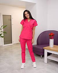 Жіночий медичний костюм Эдельвика Premium малиновий