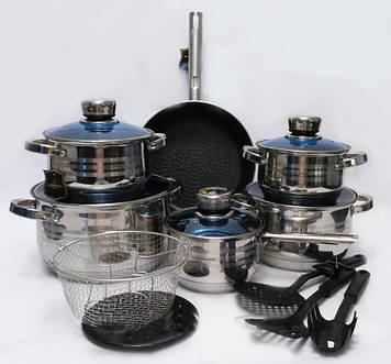 Лучший набор посуды из нержавеющей стали 18 предметов