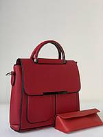 Красная маленькая женская сумка, фото 1